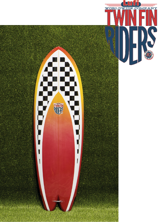 Twin Fin Riders Shortboard